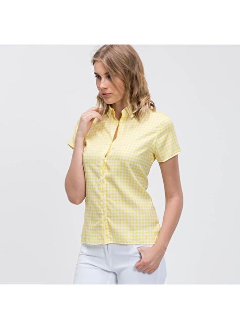 Lacoste Kısa Kollu Gömlek Sarı